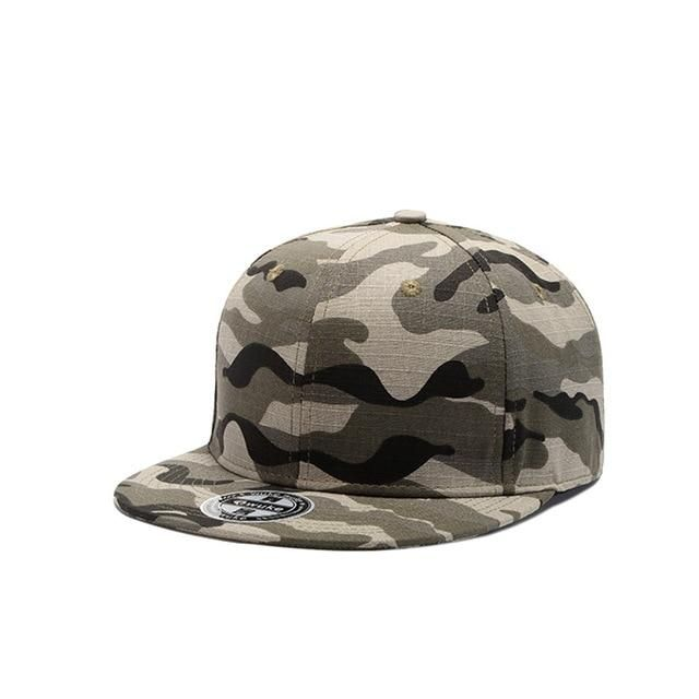 ab75398a798 WUKE] Camo Snapback Caps New Flat Designer Adjustable Hip Hop Hats ...