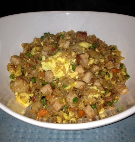 Benihana Fried Rice-I am OBSESSED!! Throw some shrimp sauce on it:-)