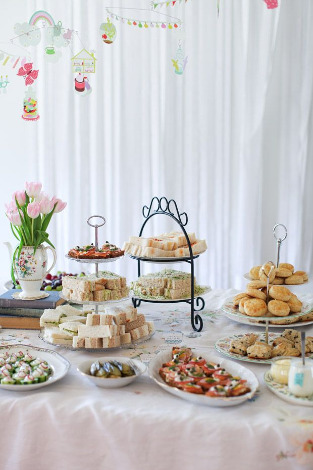 fall bridal shower menu ideas%0A Afternoon tea baby shower sandwiches    Simple Bites