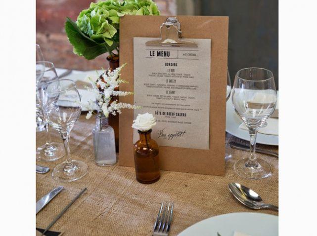 Petit soliflore table de mariage