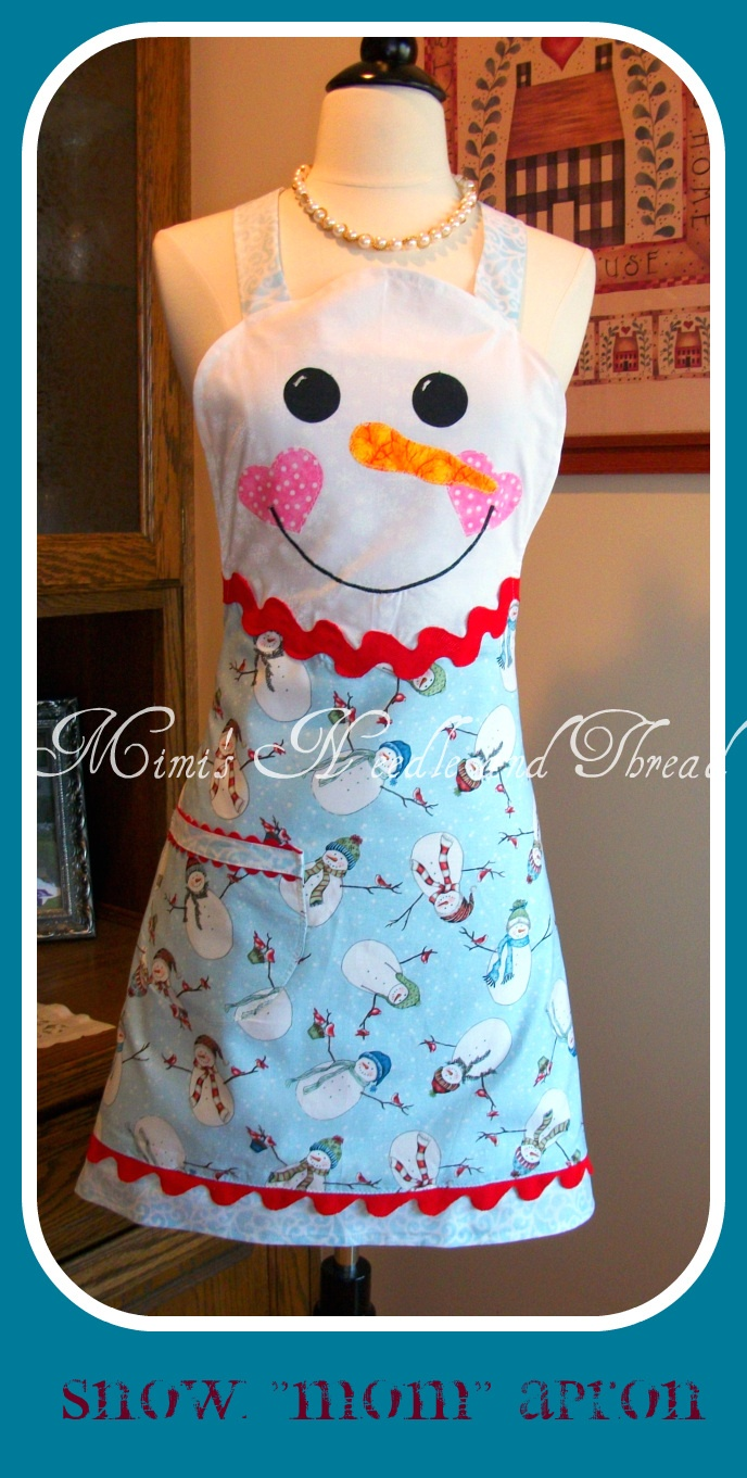 White apron brea ca - Snow Lady Apron Made By Mimi S Needle And Thread