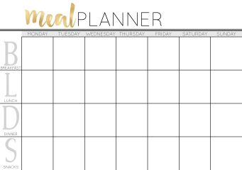 Meal Planner in A5 from Cathartic Malarkey