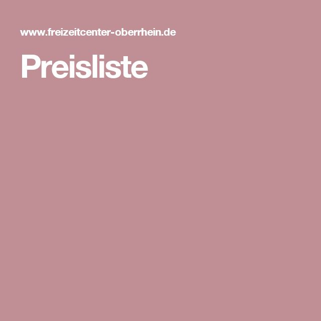 Beautiful Preisliste