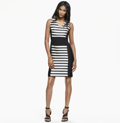 I can't pull off stripes, but I love the design  Marnie Striped Dress - Kenneth Cole  #GetGraphic