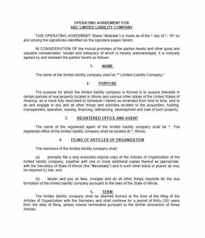 Operating Agreement Template Free Fresh 30 Free Professional Llc Operating Agreement Templates Templates Template Free Agreement