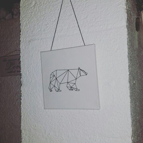 Embroidery on linen cloth ~Bear~