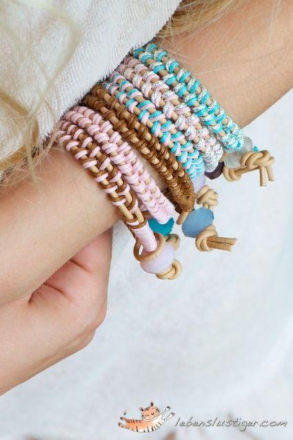DIY tutorial leather bracelet