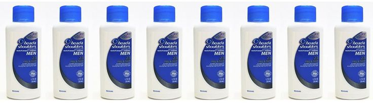 Head and Shoulders Men Full & Thick 2-in-1 Dandruff Shampoo + Conditioner 1.7 Fl Oz (Pack of 8)
