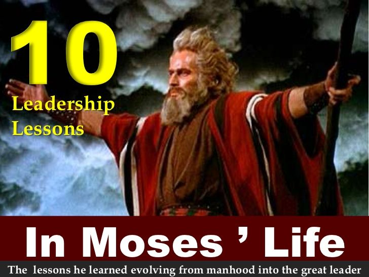 the characteristics of good leaders and the example of mosess leadership in the bible Bible verses about leadership obey your leaders and submit to them, for they are keeping watch over your souls but moses said to god, who am i that i should go to pharaoh and bring the children of israel out of egypt.