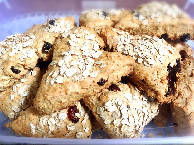 Raisin cranberry scone oatmeal