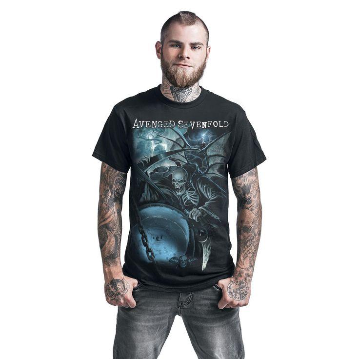 "Classica T-Shirt uomo nera ""Oracle"" degli #AvengedSevenfold."