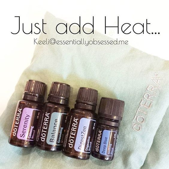 Did you know that putting a hot compress on top of your oils will help to drive them deeper! I cannot tell you how often I use this trick. ➡ Here are my top oils to put a hot compress over. ✳Deep Blue - to help sore muscles. ✳Digestzen - for and tummy discomfort. ✳Balance & Serenity - to relax after a long day. (I like to drip these ones directly on the wrap too!) ◽◽◽◽◽◽◽◽◽◽◽◽◽◽ The neck wrap I have was a limited edition item from doTERRA's Christmas Specials (total perks of having a…
