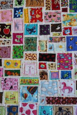 Obsessively Stitching: I-Spy Ticker Tape Quilt... the Girly Version!