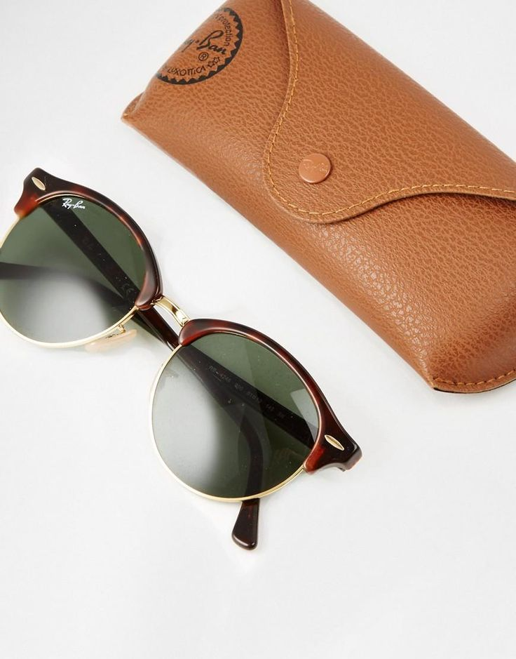 Ray-Ban | Ray-Ban Clubmaster Round Sunglasses RB4246 at ASOS