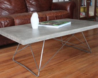 The Los Angeles   Eames Inspired Concrete Top Coffee Table