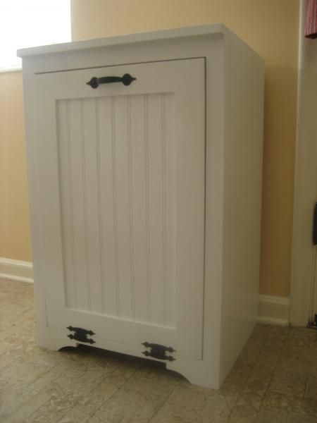 DIY Furniture : DIY Tilt out wood trash can cabinet