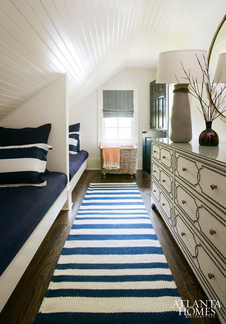 guest room - great use of space with the slopped ceiling