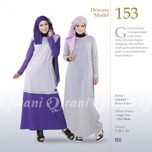 Baju Gamis Modis Qirani Model 153 Terbaru