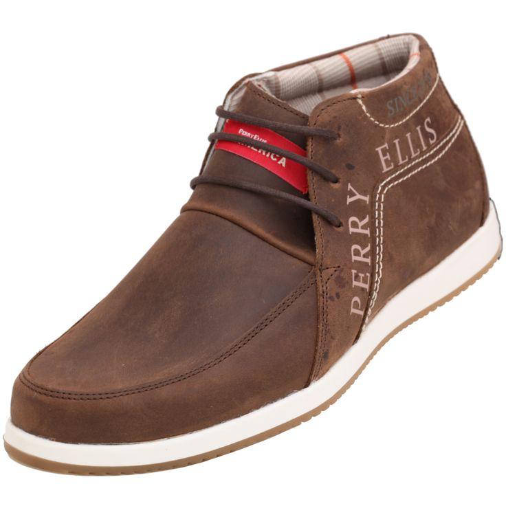 #botin #PerryEllis de #hombre  color café . Un clásico de esta marca, Calzado cómodo con una facilidad para combinar con tu ropa favorita.. En botas  max lo te temos para venta por catálogo.