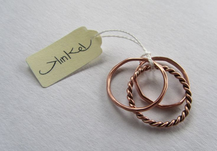 Copper Stacking Rings. #Jewellery #ring #label #easygift