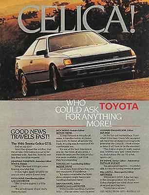 Toyota Celica GTS Photo 1986 Ad