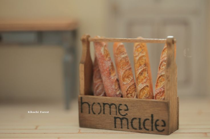 https://flic.kr/p/GRaYEK | Miniature Food - Dollhouse Assorted Breads,baguette with handmade wooden Rustic Tray | www.etsy.com/listing/385047058/miniature-food-dollhouse-a... #パン #dollhouse #miniaturefood #handmade #baguette # miniaturebreads  #breadboard #bakery #miniaturecake #kikuikestudio