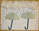 Umbrella Picture- to go with Cloudy with a Chance of Meatballs-- cut out pictures of food instead of raindrops--food collage