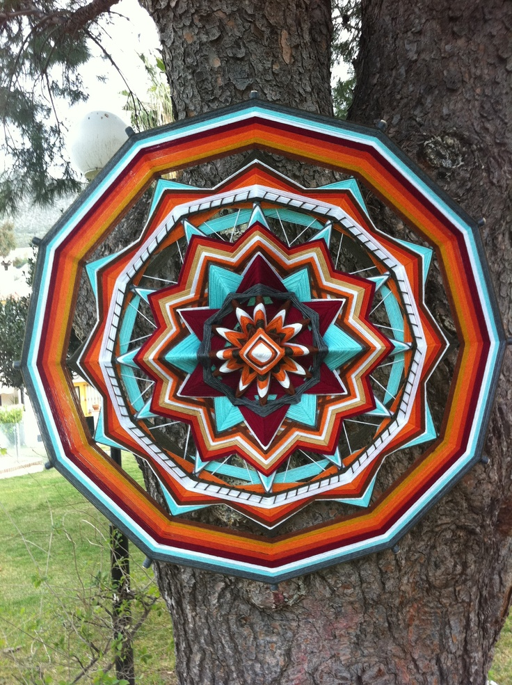 """My author's mandala """"Spirit of India"""" (80 sm). Very interesting it has turned out."""