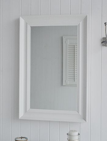 Large white wall mirror from The White Lighthouse. Ideas and designs in furniture and accessories for decorating your white home from The White Lighthouse www.thewhitelighthousefurniture.co.uk