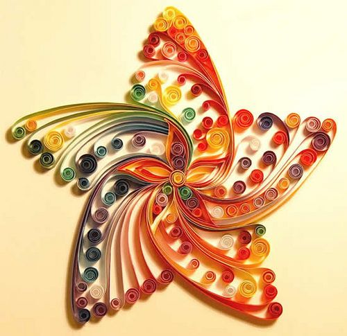Dynamic and Vibrant Paper Quilled Star