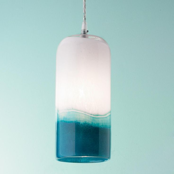 Blues art glass pendant light