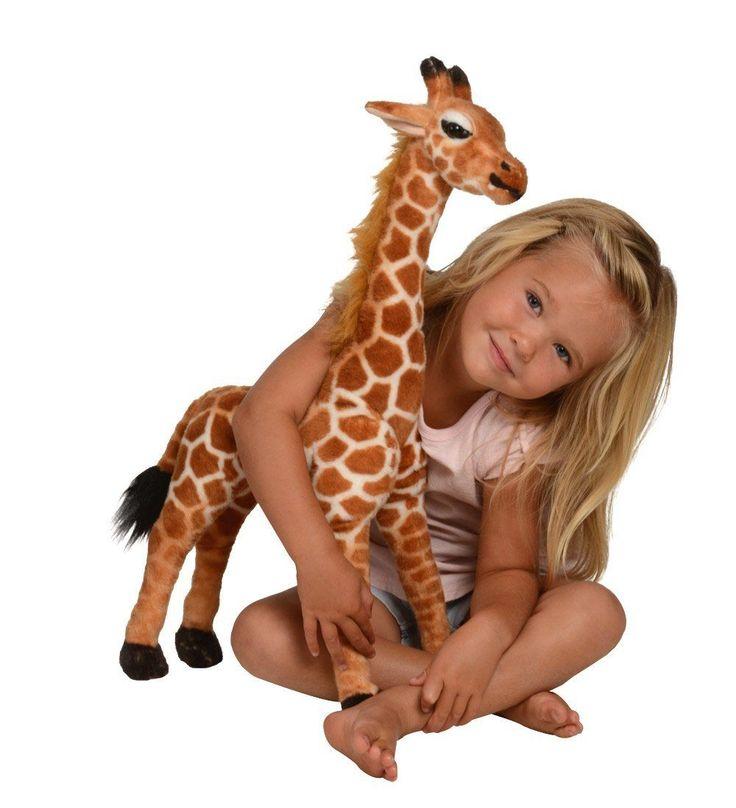 Kangaroo Stuffed Giraffe  Toy Plush Giraffe- 2 High Neck Moves New