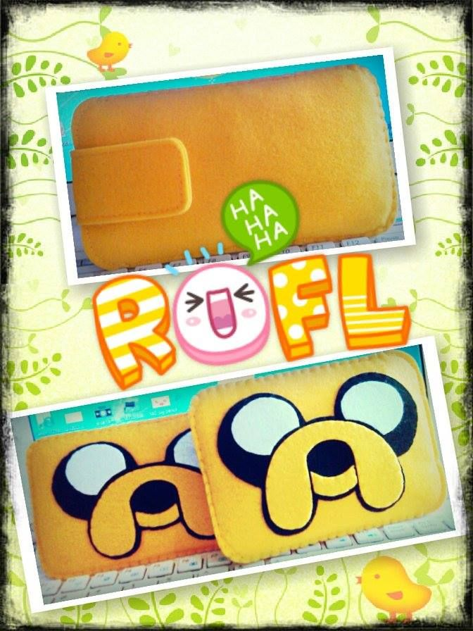 Jake the adventure time, HANDMADE  felt pouch and case for ipad, ipad mini and any other gadgets We also accept customize and personalize order :)
