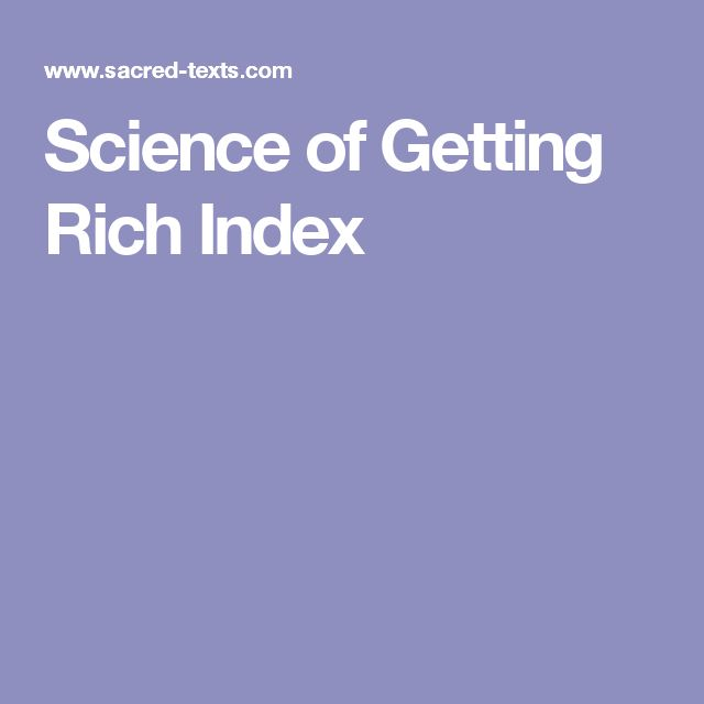 Science of Getting Rich Index