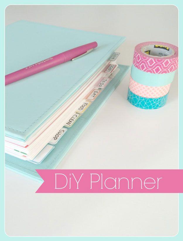 Organization DIY! Make a DIY Planner! | http://diyready.com/diy-organizing-projects-organization-tips/
