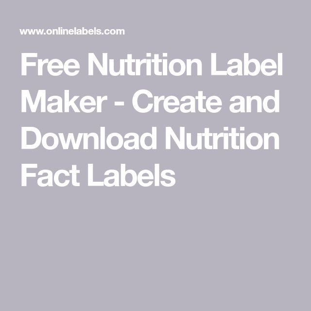 Create And Download Nutrition