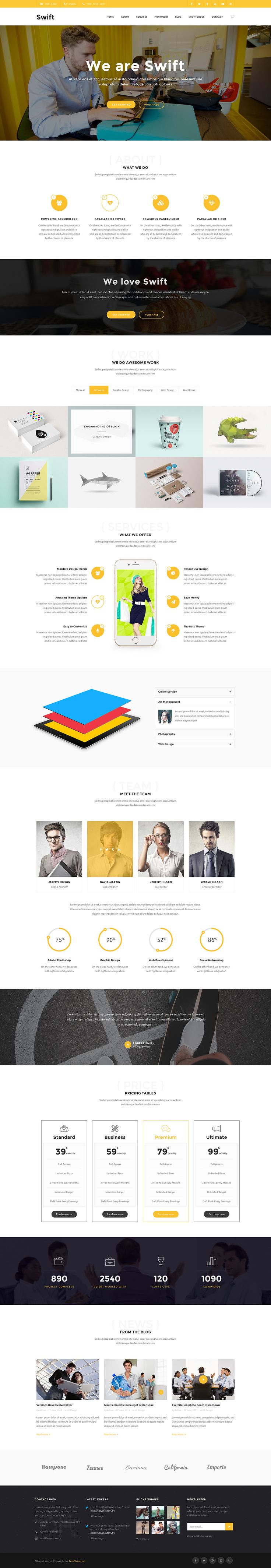 Swift is a WordPress Theme which can be suitable for Blog, Business, Personal and Portfolio website. This theme is enhanced with custom demo contents and beautiful styles.