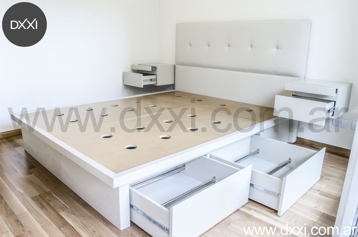 Bedroom by DXXI  www.dxxi.com.ar   #dxxi #furniture #dedroom #furnishing #bed #muebles #dormitorio #cama