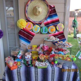 Candy buffet para fiesta temática Mexicana. #MesasDulces