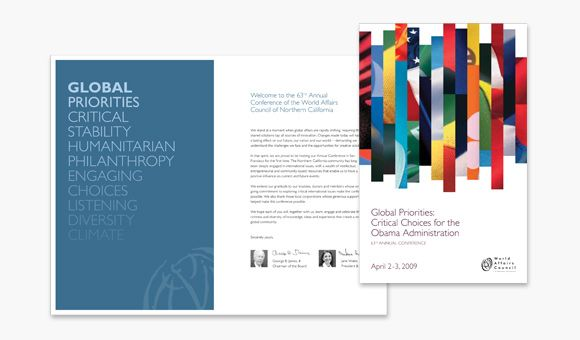 Conference program guide for World Affairs Concil of Northern California « News « Project6 Design, Inc., San Francisco Bay Area Web + Graphic Design Firm