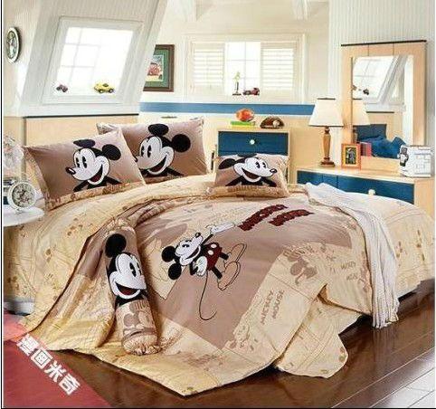 Hot koop! mickey minnie mouse bed set beddengoed set queen kingsize falt vel 100% katoen sprei sprei dekbedovertrek 1199 in   materiaal: 100% katoenTwin size3 stks beddengoed set omvat: 1 stks dekbedovertrek + 1 stks laken +1 stks k van beddengoed sets op AliExpress.com | Alibaba Groep