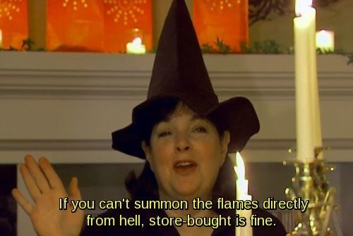 """Thank the LORD for her signature catchphrase, """"store-bought"""" is fine. 