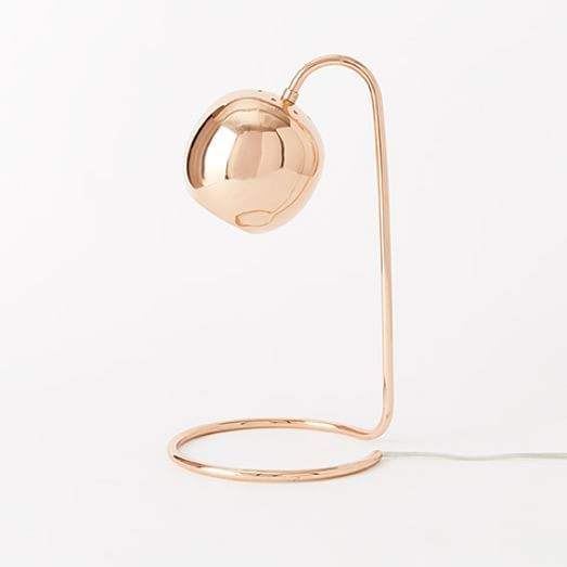 Copper Scoop Table Lamp | West Elm Perfect for my desk (rose gold and white color scheme):