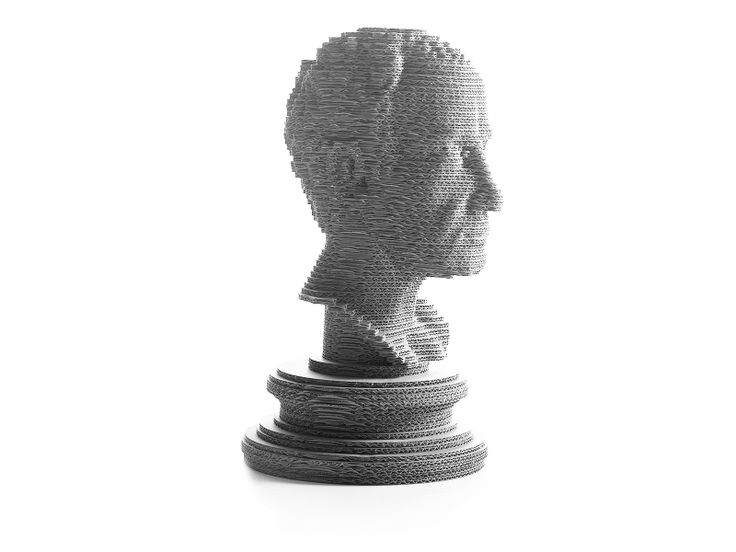 Giulio C bust made of recycled cardboard.  #eeticoproject