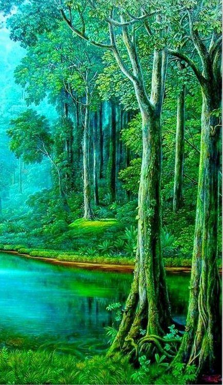 pintura-hiperrealismo-paisaje ++++++++++++++++++++ https://es.pinterest.com/sumbuleldek/resim-ar%C5%9Fivimposter-7/