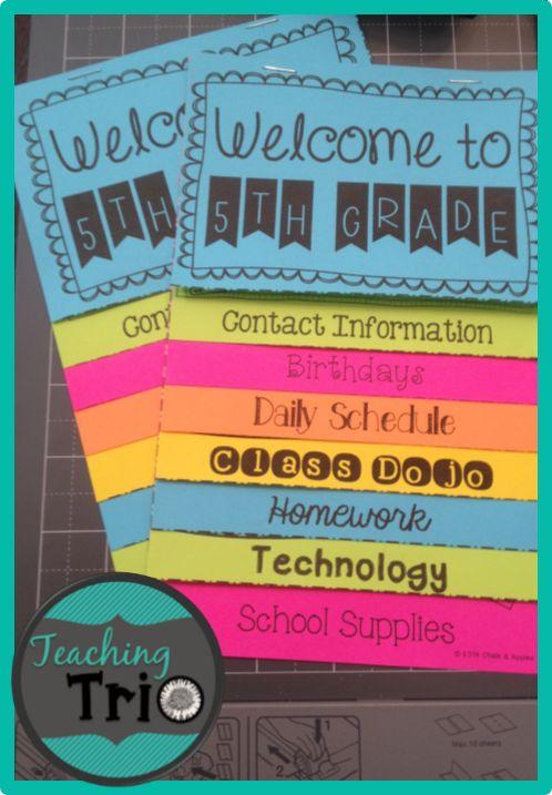 Back to School Parent Night Flipbook