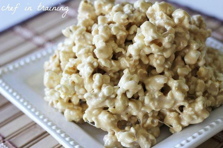 Caramel Marshmallow Popcorn | Chef in Training