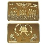 Wish | 1914 German Iron Cross Air Force and Army Soldiers Military 999 Reichs Gold Eagle Souvenir Hawks and Two Lions Coins Collection (Size: 44mm by 28mm by 3mm, Color: Gold)