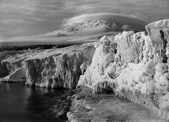 Mt. Erebus and a Dome Cloud, Scott Expedition, Antarctica by Herbert George Ponting, 1911