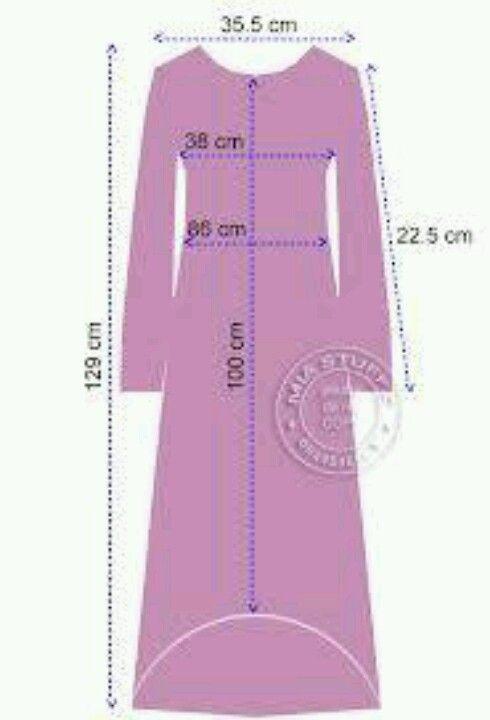 Baju Gamis Kembang Gamis Murni